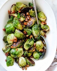 Maple Glazed Brussel Sprouts