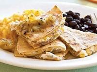 Goat Cheese & Roasted Corn Quesadillas